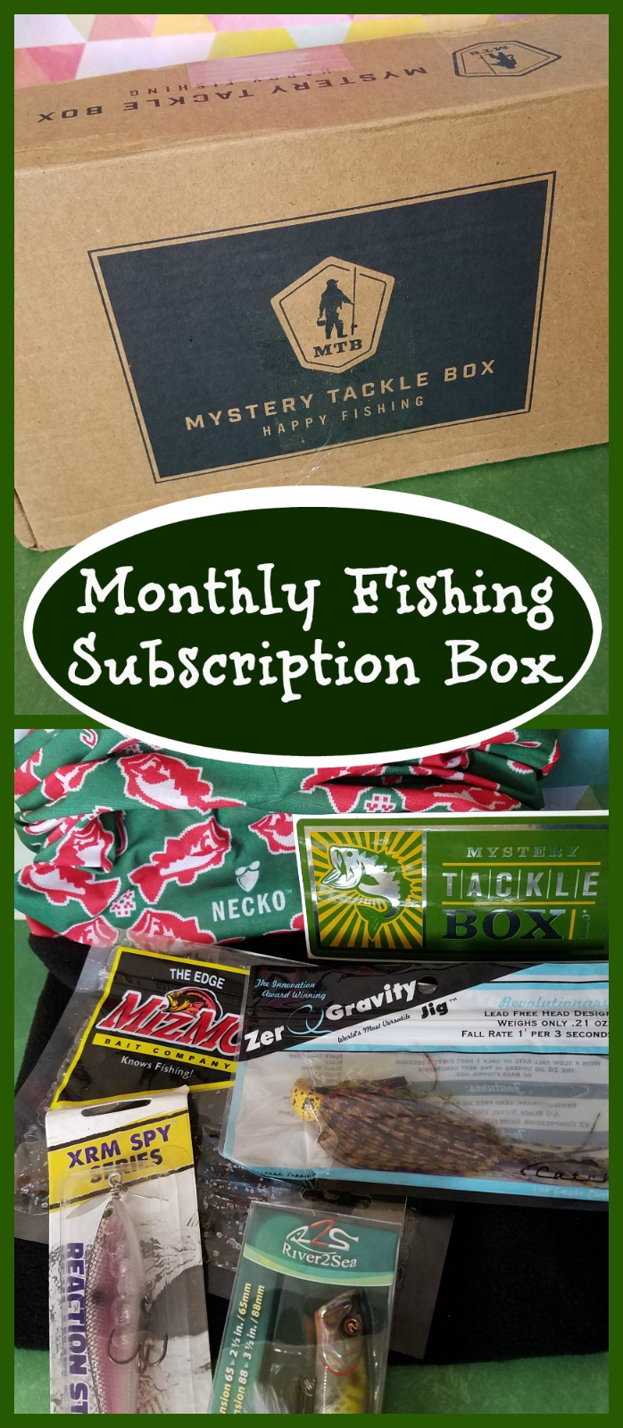 Mystery tackle box review by amy smith subscription gift for Fishing box subscription